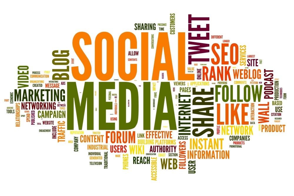 Social media in tag cloud
